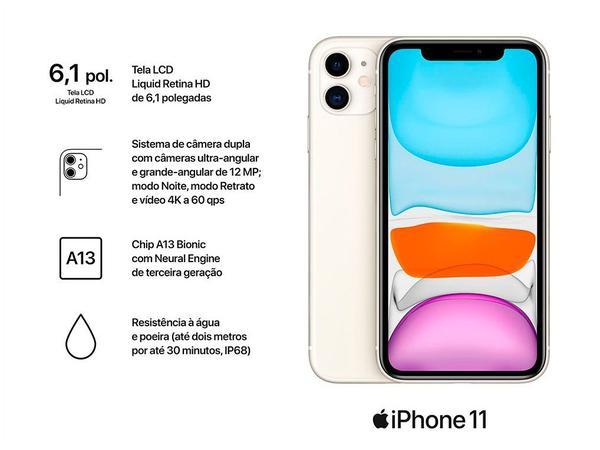 "Imagem de iPhone 11 Apple 256GB Branco 6,1"" 12MP iOS"