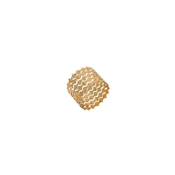 Imagem de Jogo 4 anéis para guardanapo em zamac dourado Gates Prestige - 26512