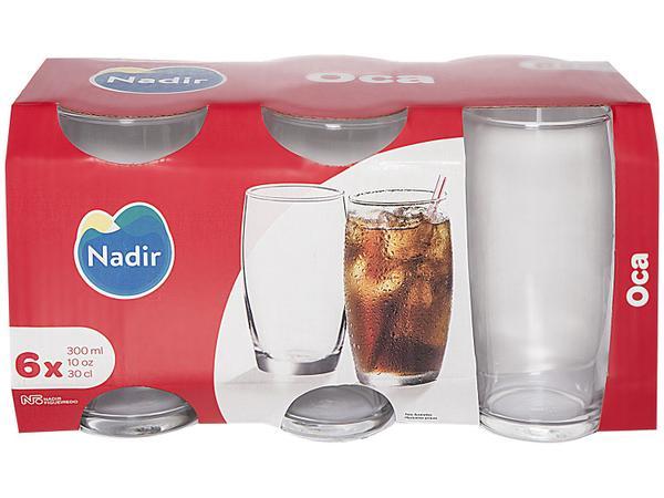 Imagem de Jogo de Copos de Vidro 300ml 6 Peças Nadir