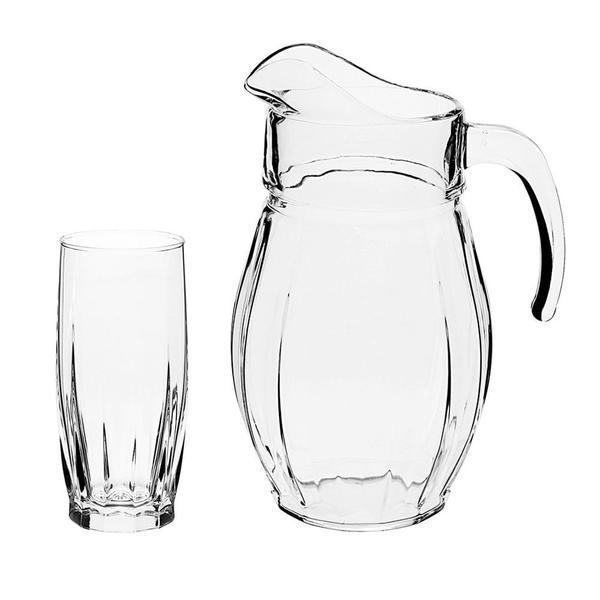 Imagem de Jogo de jarra com copos em vidro Pasabahce Dance 7 peças