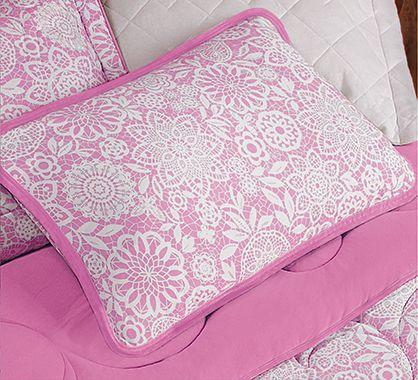Imagem de Jogo de lençol casal padrão malha 100% algodão 3 peças rosa - MC Enxovais