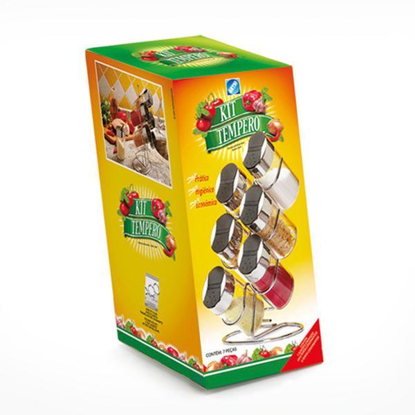 Imagem de Jogo de porta condimentos de bancada com 06 peças x-5308 - arthi