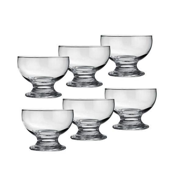 Imagem de Jogo de Sobremesa com 6 Taças de Vidro e 6 Colheres de Inox