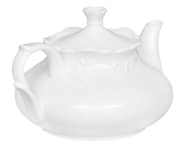 Imagem de Jogo para Servir Chá em Porcelana Relevo
