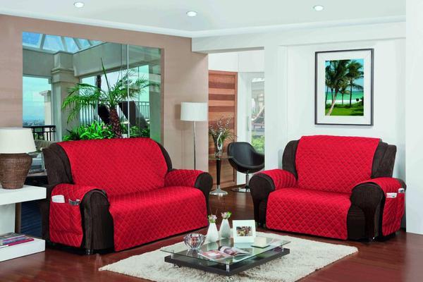 Imagem de Jogo Protetor De Sofá Versalhes 2 e 3 Lugares - Vermelho