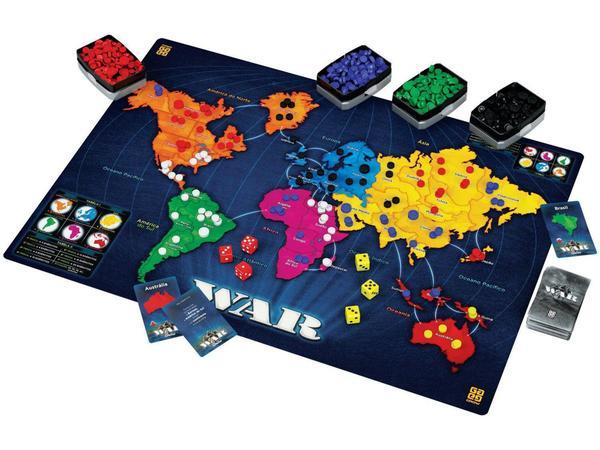 Jogo War Tabuleiro O Jogo Da Estrategia Grow Brinquedos De Estrategia Magazine Luiza
