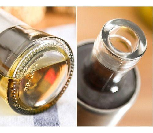 Imagem de Kit 2 P. Azeite / Galheteiro 300 Ml Vidro Aço Inox  Dosador