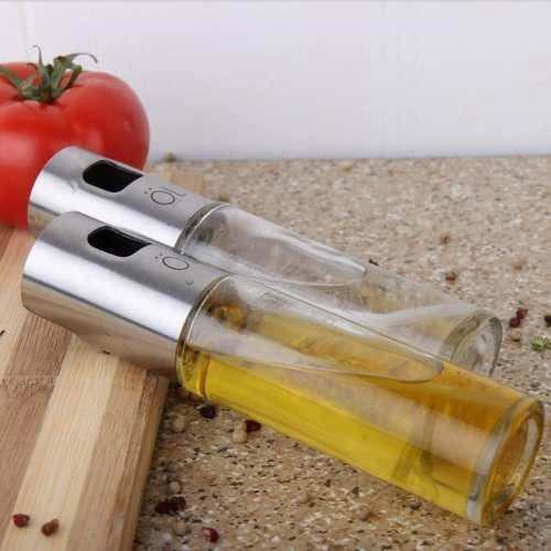 Imagem de Kit 2 Peças Spray Vinagre/ Azeite Aço Inox Design Alemanha