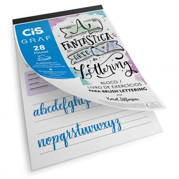 Imagem de Kit Bloco Brush Lettering A4 Cis Graf