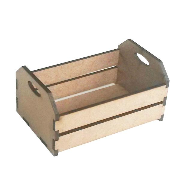 Imagem de Kit com 10 Mini caixote 7 cm caixotinho de feira mdf fazendinha