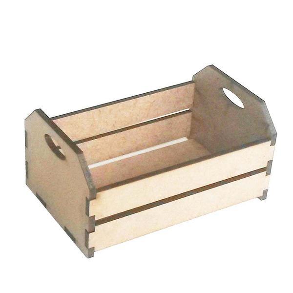Imagem de Kit com 2 Mini caixote 10cm caixotinho de feira fazendinha junina mdf 3mm
