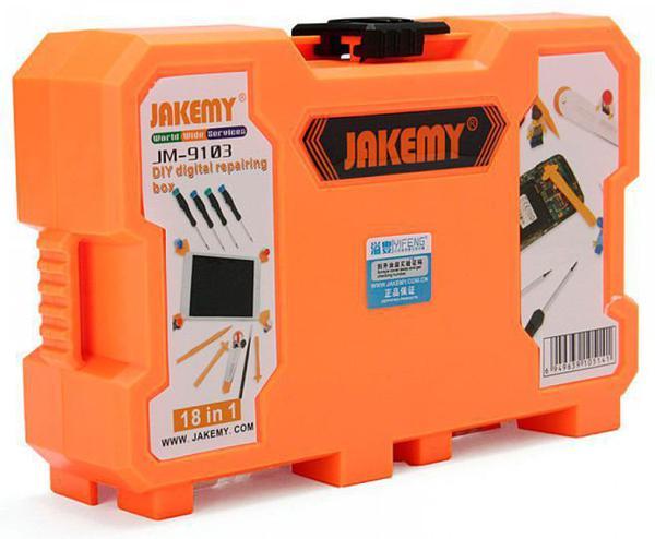 Imagem de Kit Ferramentas Multifuncional 18 Peças Profissional Jakemy JM-9103