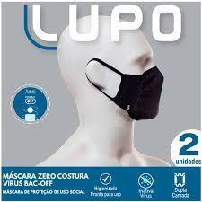 Imagem de Kit Máscara Lupo Zero Costura Bac-Off - Pau A Pique