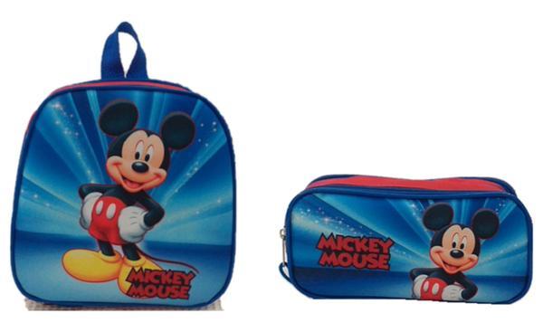 Imagem de Kit Mochila Infantil Mickey Mouse Vermelho