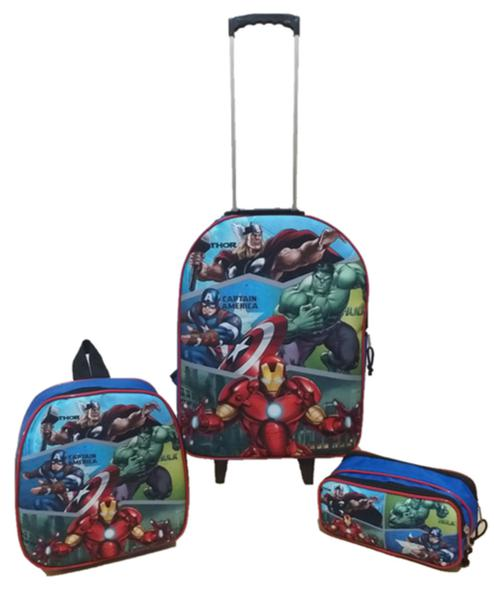 Imagem de Kit Mochila Infantil Vingadores Avengers Azul