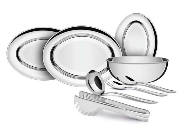 Imagem de Kit para Servir Tramontina Buena em Aço Inox 8 Peças
