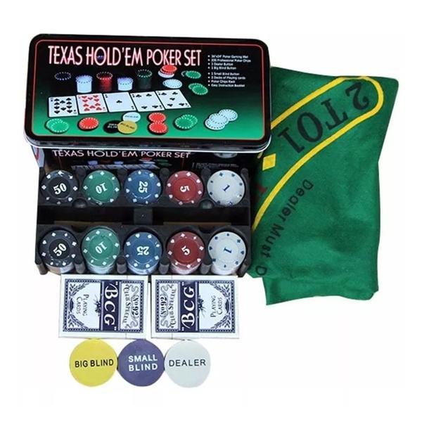 Kit Poker Profissional Chips Jogo Com 200 Fichas Toalha Bazar Bom Jogo De Poker Magazine Luiza