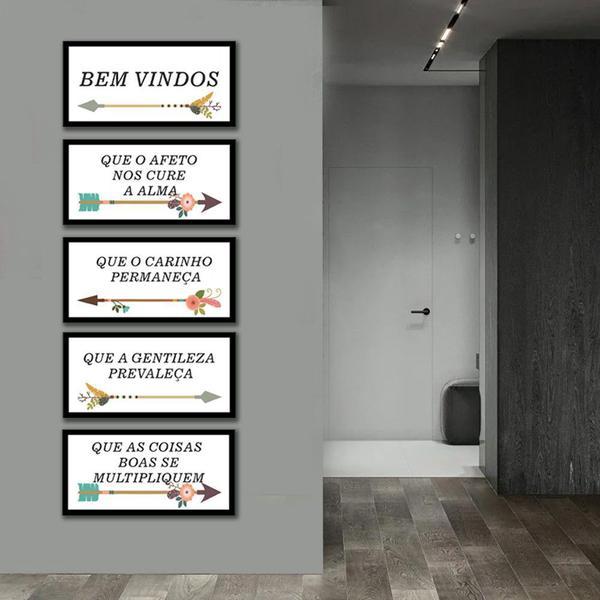 Imagem de Kit Quadros Decorativos Flechas e Frases