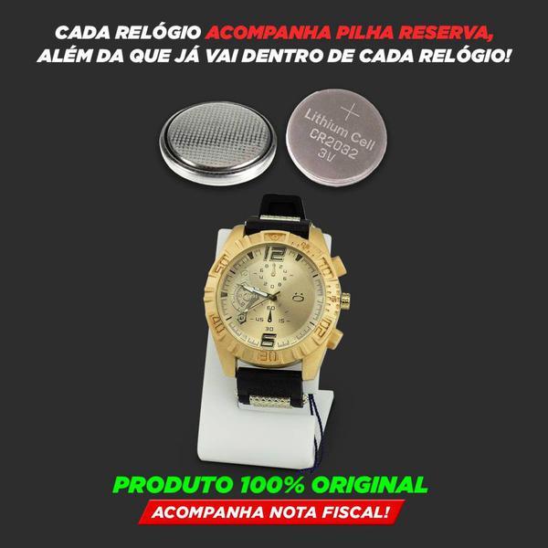 Imagem de Kit Relógio Masculino Orizom + Colar + Pulseira Original