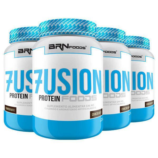 Imagem de Kit Super Whey Protein: 4x Fusion Protein Foods 900g Chocolate  BRNFOODS