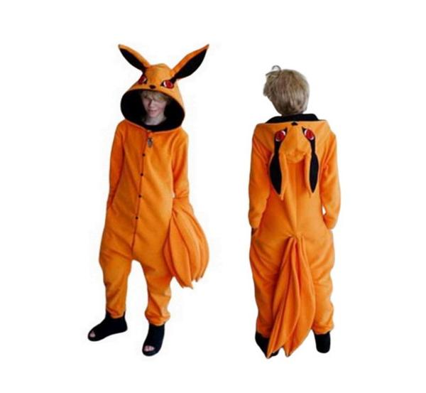 Imagem de Kyuubi Kurama Naruto Raposa 9 caudas Fantasia Pijama Kigurumi Macacão Roupa Infantil Adulto Anime