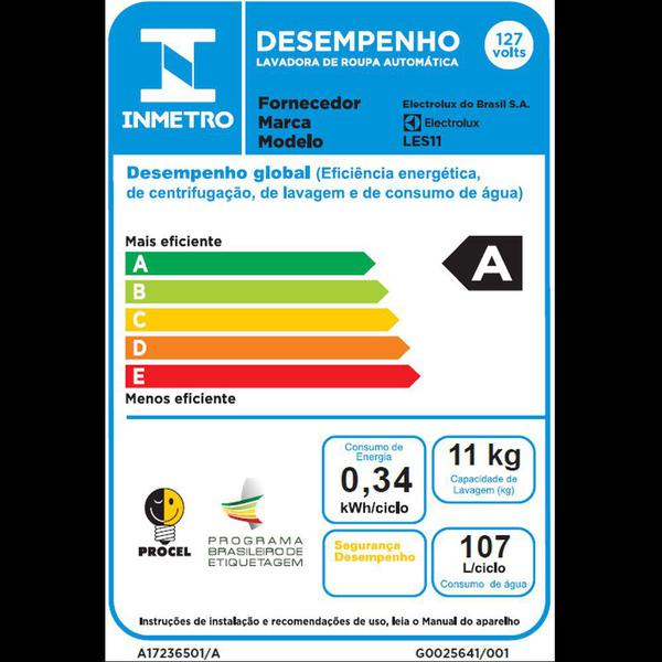 Imagem de Lavadora de Roupas Electrolux Essencial Care 11kg (LES11) - 127V