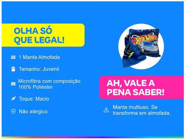Imagem de Manta Almofada Juvenil Jolitex Microfibra Mattel