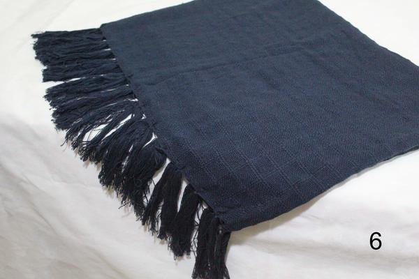 Imagem de manta para sofá azul marinho xale protetor sofa artesanal em algodão Acessórios Teodoro
