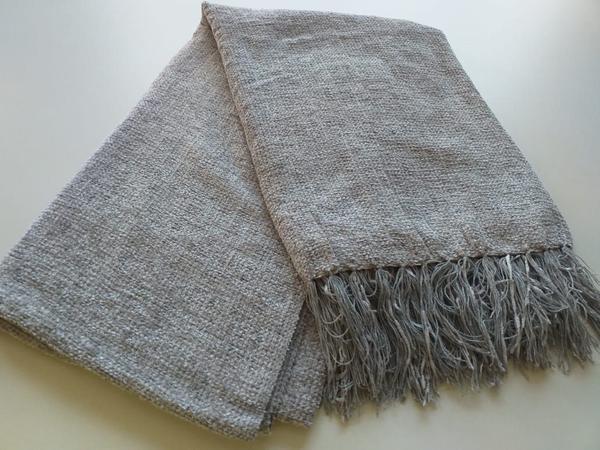 Imagem de Manta para sofá Chenile 1,20 x 1,80  Prata