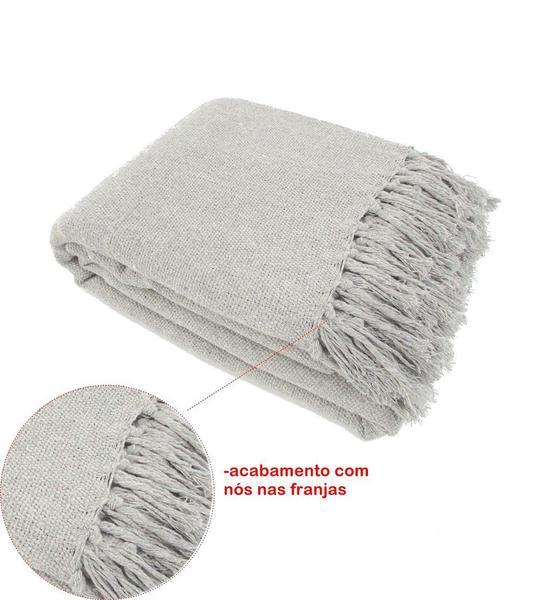 Imagem de Manta Para Sofá Em Algodão Cinza Gigante 2,40 X 1,80