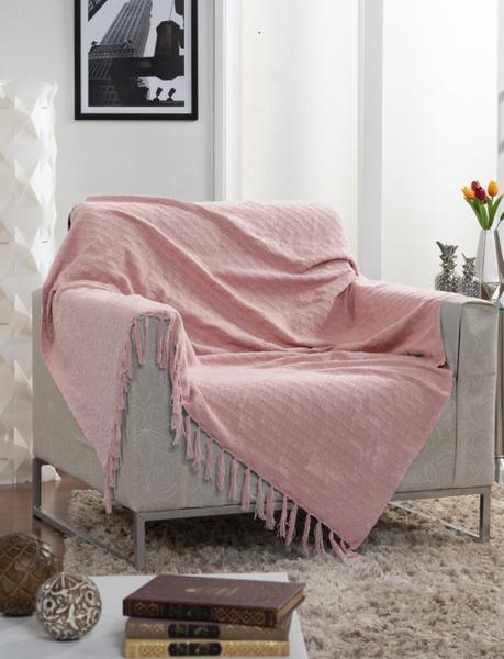 Imagem de Manta Para Sofá Italiana Rosa