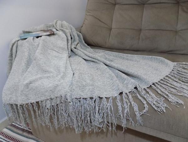Imagem de Manta para Sofá Prata em Chenille
