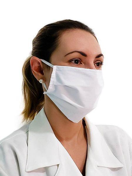 Imagem de Máscara Branca de Tecido Lavável