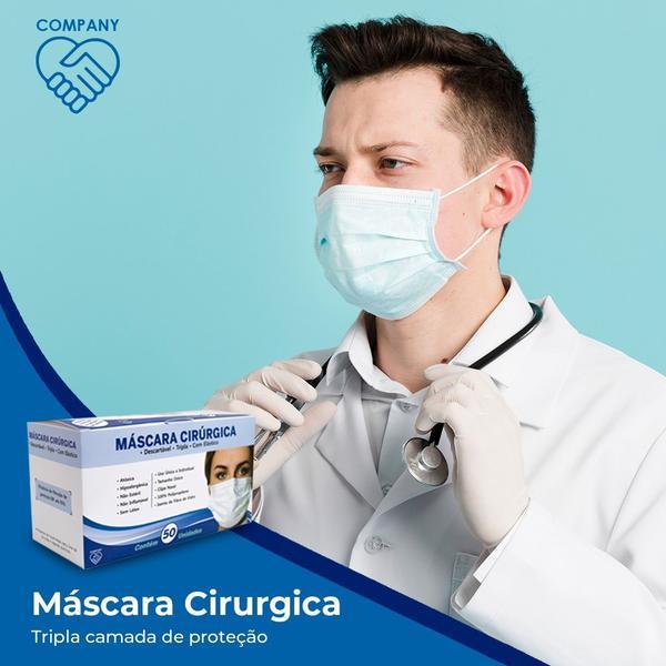 Imagem de Máscara cirurgica tripla descartável 50 unidades - Medi Company