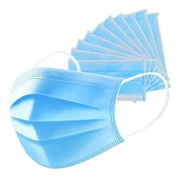 Imagem de Mascara tripla tnt com elastico e clip nasal c/50 - Jks