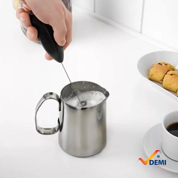 Imagem de Mini Mixer Misturador Elétrico Inox Shaker Café Chá Bebidas