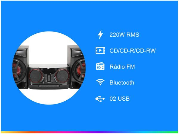 Imagem de Mini System LG Bluetooth 220W CD Player FM - USB Xboom CK43
