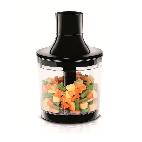 Imagem de Mixer de Alimentos 2 em 1 127v 500w com Base Antideslizante Preto Premium  Mondial M-07