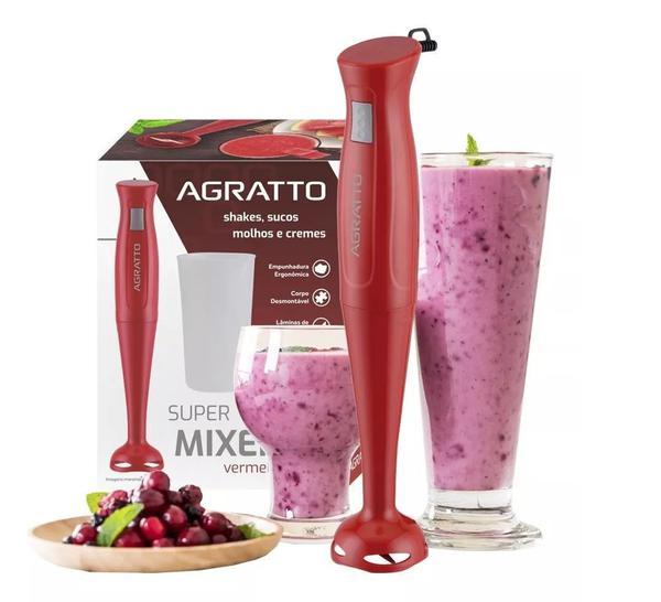 Imagem de Mixer De Alimentos Gourmet com Copo 700ml 200W Vermelho Agratto