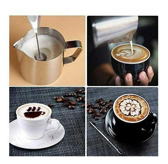 Imagem de Mixer Misturador Portátil Azul para Leite Cafe Bebidas Shake ovos