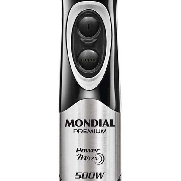 Imagem de Mixer Mondial Power Premium M-07 500W 2 Lâminas e 2 Velocidades Preto/Inox