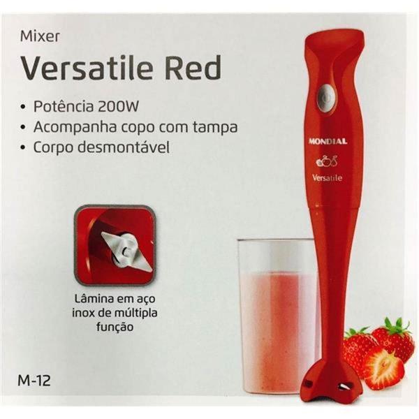 Imagem de Mixer Mondial Versatile M-12 Vermelho 127V