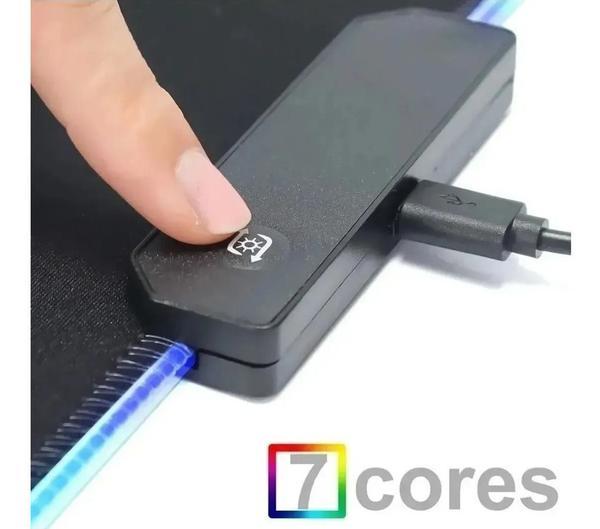Imagem de Mouse Pad Gamer Grande 80 X 30 Cm Mousepad Iluminado Led Rgb