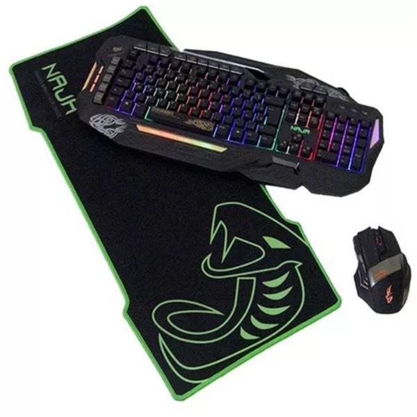 Imagem de Mousepad gamer naja tamanho grande borracha natural