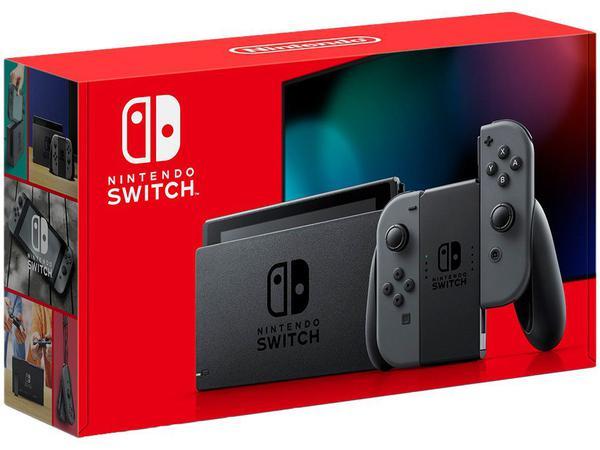 Imagem de Nintendo Switch 32GB HAC-001-01 1 Controle Joy-Con - Cinza