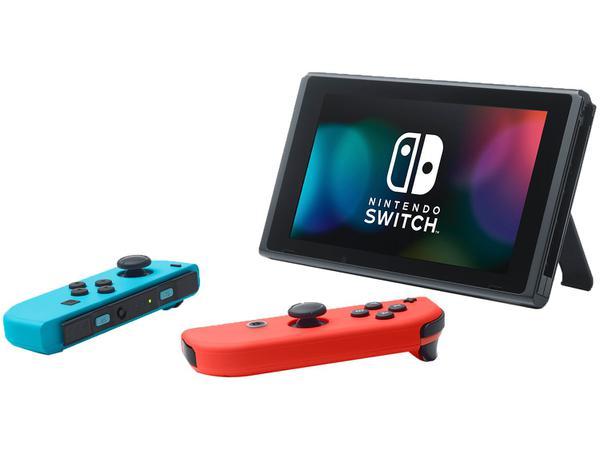 Imagem de Nintendo Switch 32GB HAC-001-01 1 Controle Joy-Con - Vermelho e Azul
