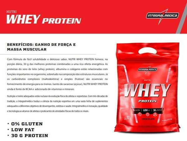 Imagem de Nutri Whey Protein 907g Refil INTEGRALMEDICA 1 UN