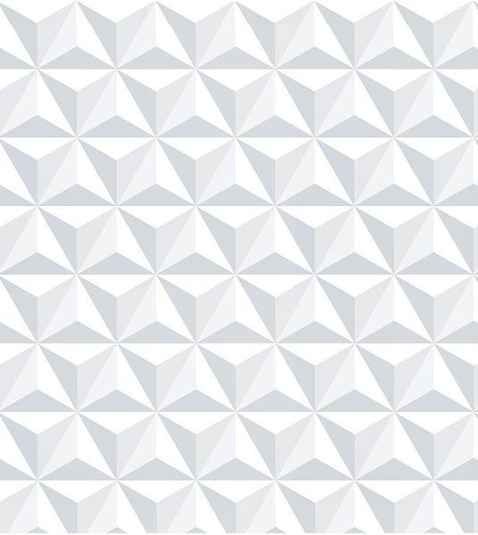 Imagem de Papel de Parede 3D Tijolo em Tons de Branco e Cinza Para Salas e Quartos.