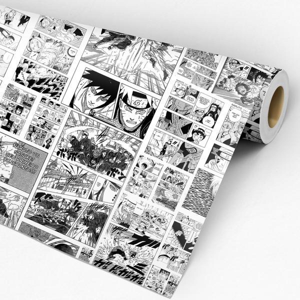 Imagem de Papel De Parede Adesivo Lavável Quarto Mangá Naruto Anime