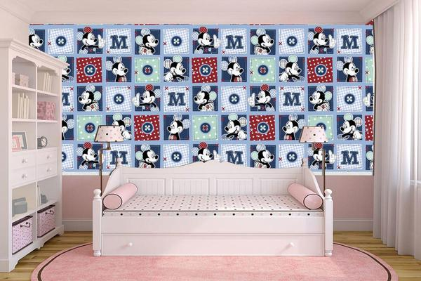 Imagem de Papel de parede adesivoinfantil mickey  ( med. 90x300 cm)